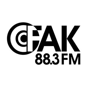 Logo de la radio CFAK 88.3 FM