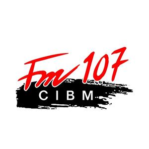 Logo de la radio CIBM 107.1 FM