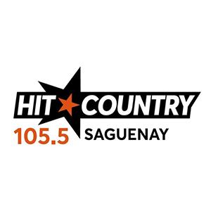 Logo de la radio Hit Country 105.5 FM Saguenay