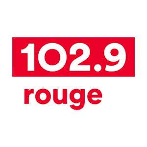 Logo de la radio Rouge 102.9 FM Rimouski