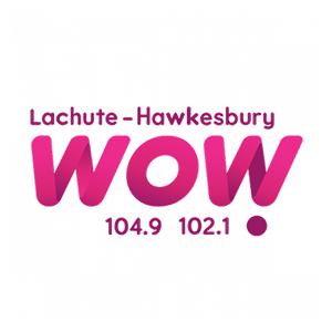 Logo de la radio WOW 104.9 – 102.1 FM